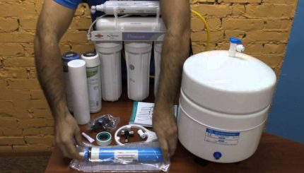Reverse osmosis filter for home