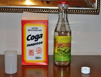 Soda et vinaigre contre le mildiou