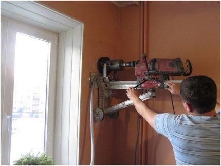 Installation de ventilation d'alimentation