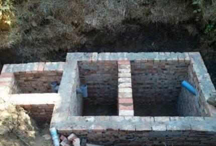 Brick septic tank