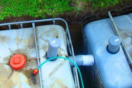 We fall asleep a septic tank from eurocubes