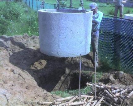 Rings for septic tank