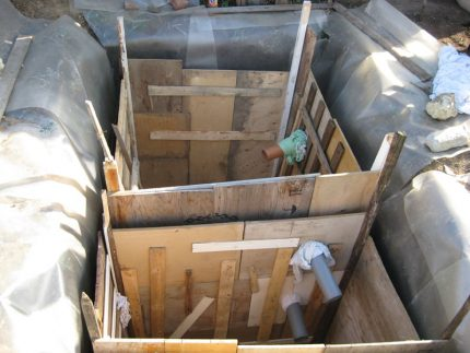 Formwork for septic tank