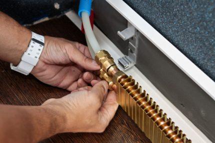 Attaching a heating module