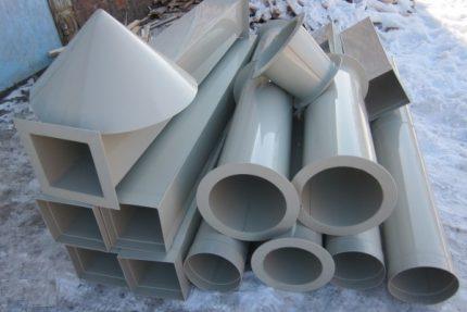Plastmasas caurules ventilācijai