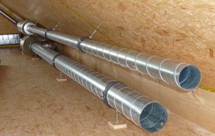 Cinkotas caurules ventilācijai