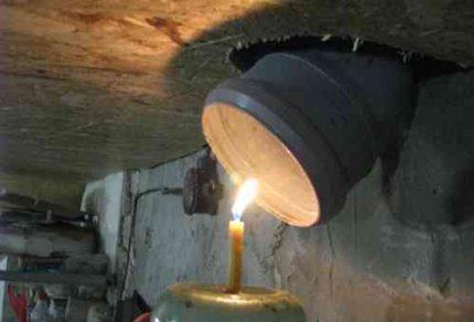 Pagraba žāvēšana ar sveci