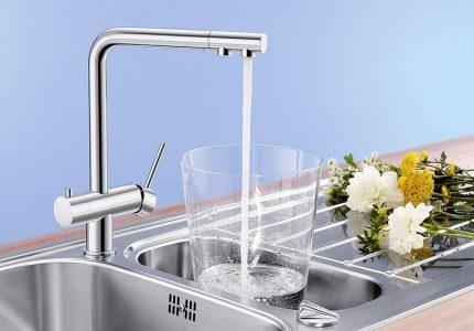Double basin mixer