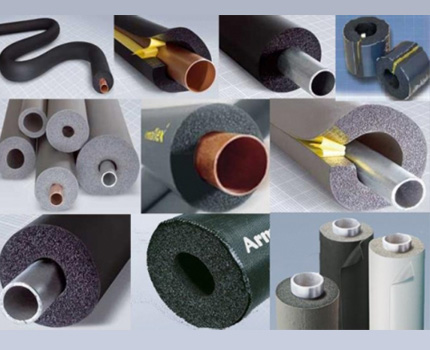 Insulation options for pipes