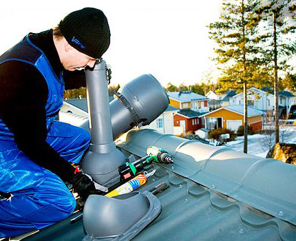 Installation of ventilation by specialists