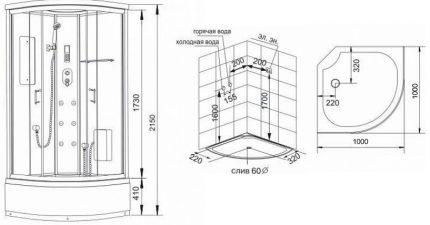 Diagram för hyttmontering
