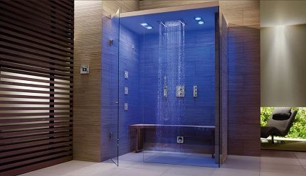 Belysning i duschen