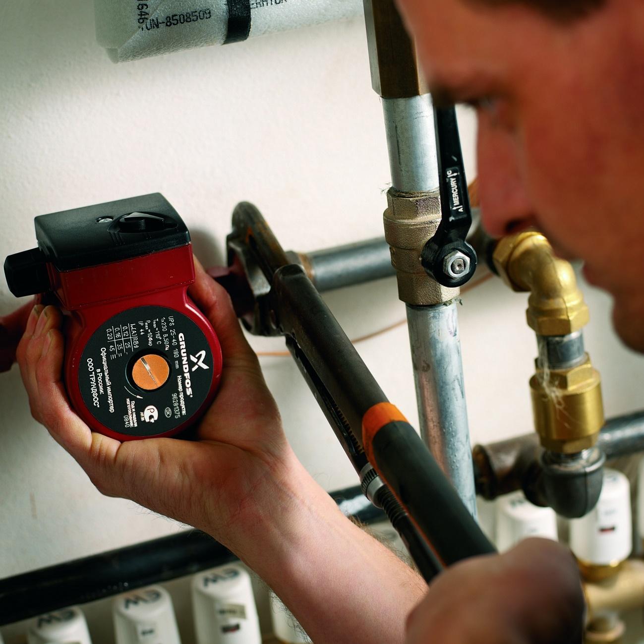 Water floor heating pump