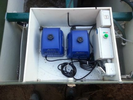 Compressor for septic tank