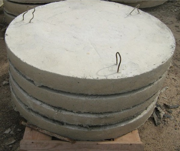 Concrete slabs for the bottom