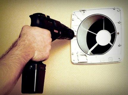 Montage du ventilateur