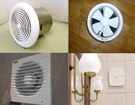 Ventilateur dans la salle de bain