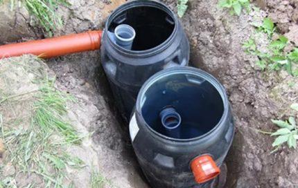Cesspool of two barrels