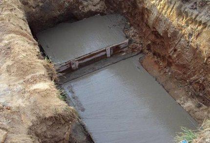 Concrete drain pit