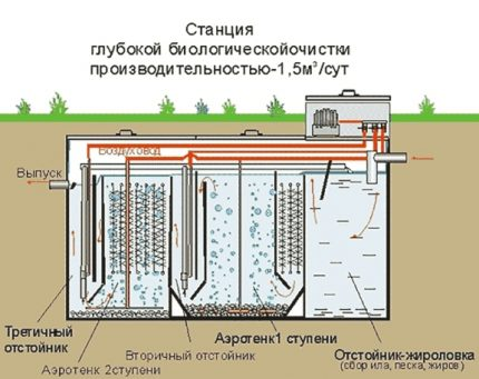 Septic tank with biological treatment