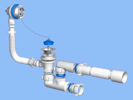 Siphon device for bath