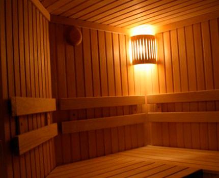 Sauna dans le bâtiment résidentiel