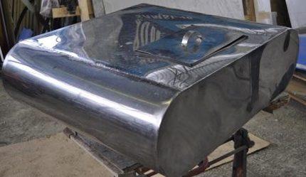 Tank för sommardusch - rostfritt stål
