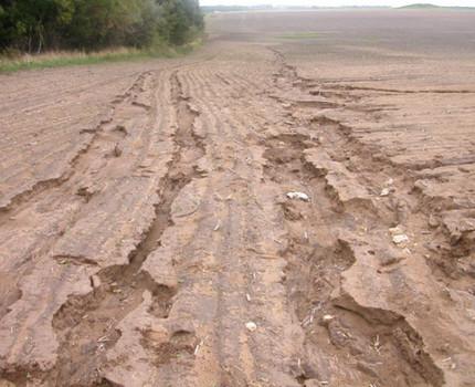 Zeme, ko skārusi ūdens erozija