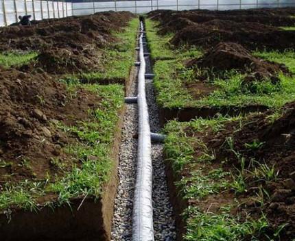 Dziļuma kanalizācijas sistēma pēc uzstādīšanas