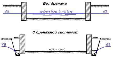 Basement water level