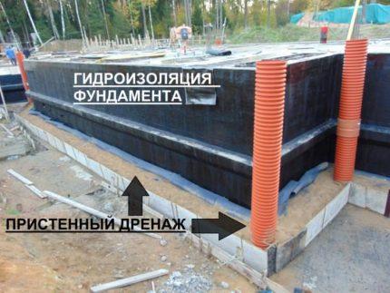 Wall drainage