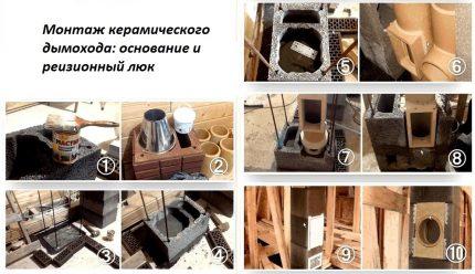 La procédure d'installation d'une cheminée en céramique