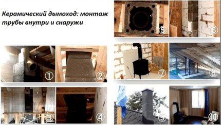 Installation d'une cheminée en céramique