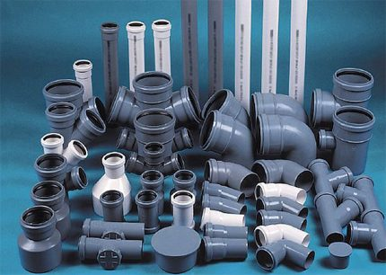 Plastic pipes for sewage networks