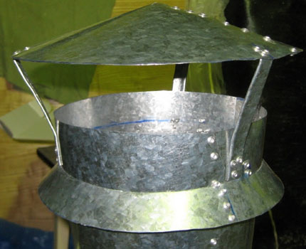 Homemade sewer ventilation baffle