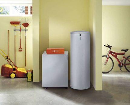 Indirect heating boiler design