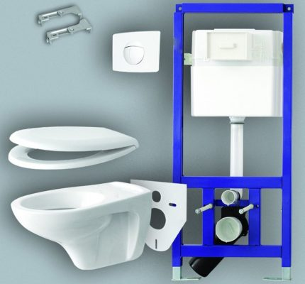 Flawless operation, reliability and safety of suspended sanitary equipment depends on a properly selected and installed installation for the toilet