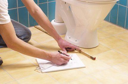 Installing a toilet on a taffeta