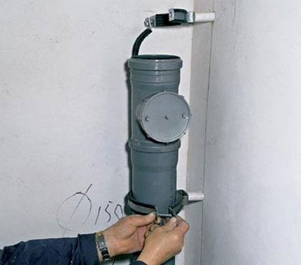 The method of fixing pipes