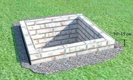 Brick cesspool