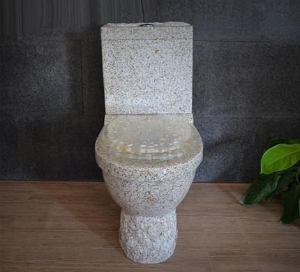 Natural granite toilet