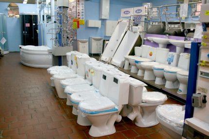Toilet selection