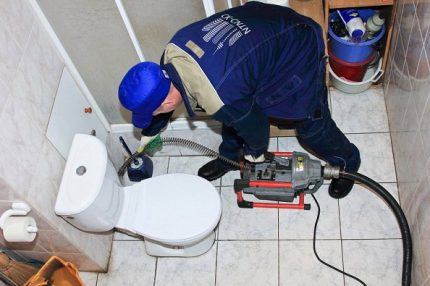 The work of a professional plumber