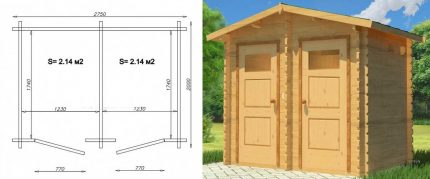 Drawing for a combined toilet with shower