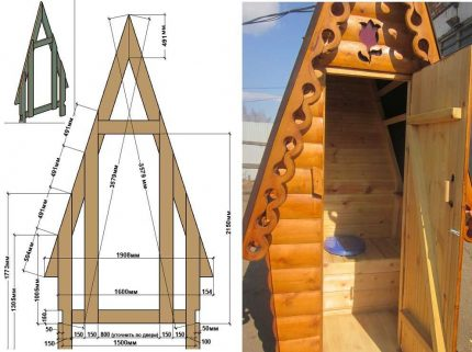 The project of the country-toilet type hut