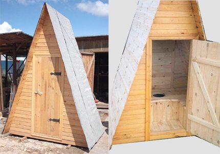 Hut toilet doors
