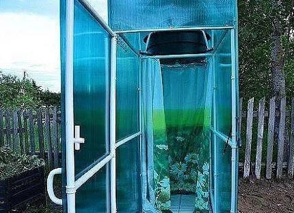 Polycarbonate shower