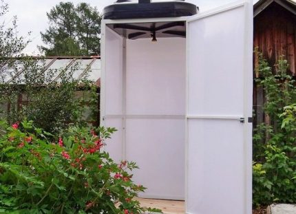 Place for an outdoor shower