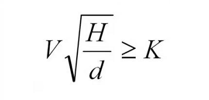 Formula for calculating sewage slope