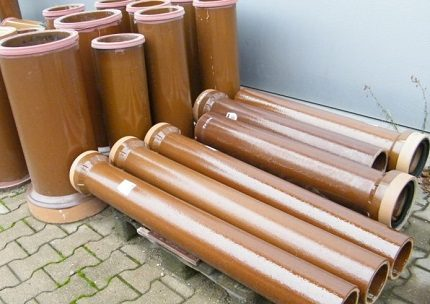Keramikas kanalizācijas caurules